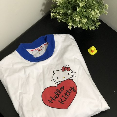 35ab8a29c @ncarr95. 5 months ago. College Park, United States. DM BEFORE PURCHASING ♡ Lazy  Oaf x Hello Kitty Long Sleeve Split T-shirt ♡