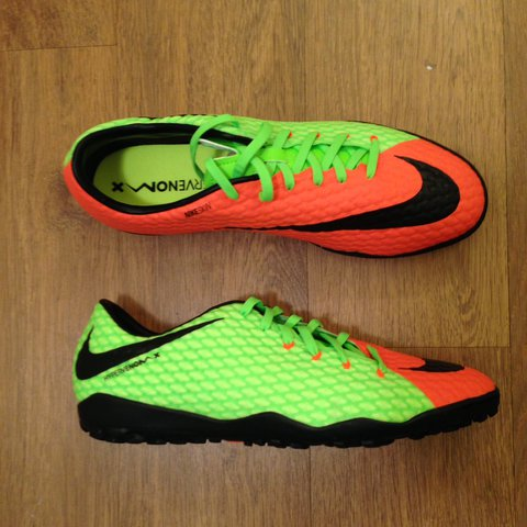 7123e97b143 Nike Hypervenom Phelon III TF - Electric Green Black Hyper 3 - Depop