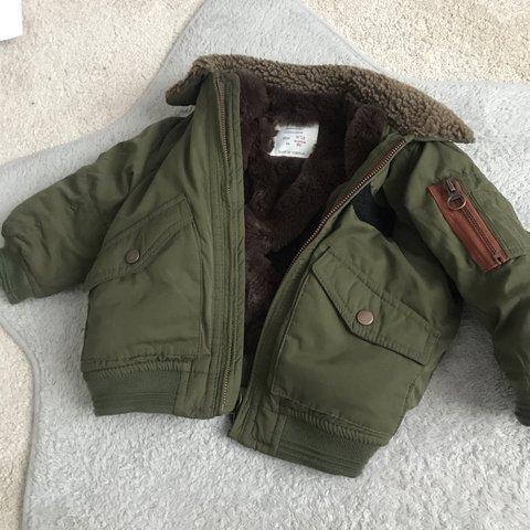 263418f1dca1 Zara baby boys 9-12 months jacket Only worn once My son me - Depop