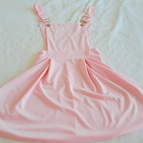 17d244080b8 Romwe pinafore dress in bright pink. Very light
