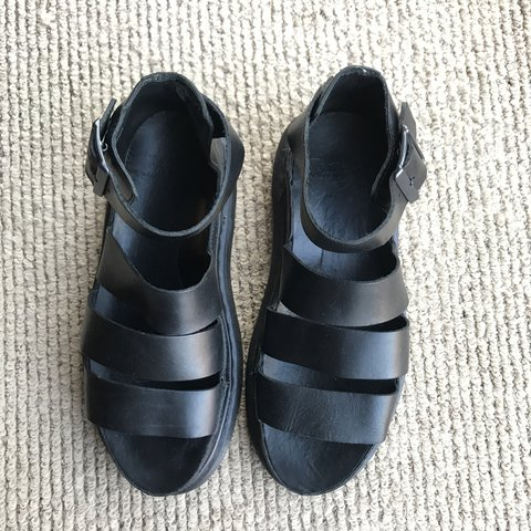 37ff0636e622 Dr. Martens Clarissa Sandals in Black - Chunky leather 90s - - Depop