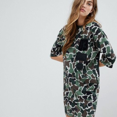d7df4af8620ef @indiawxx. last year. Cheltenham, United Kingdom. Stunning XS Adidas  Originals Camo T-Shirt Dress. Never worn ...