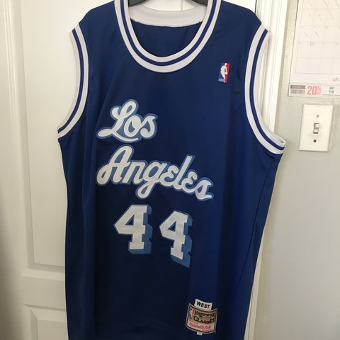 Vintage Jerry West Mitchell and Ness official nba jersey. at - Depop 8698be76a