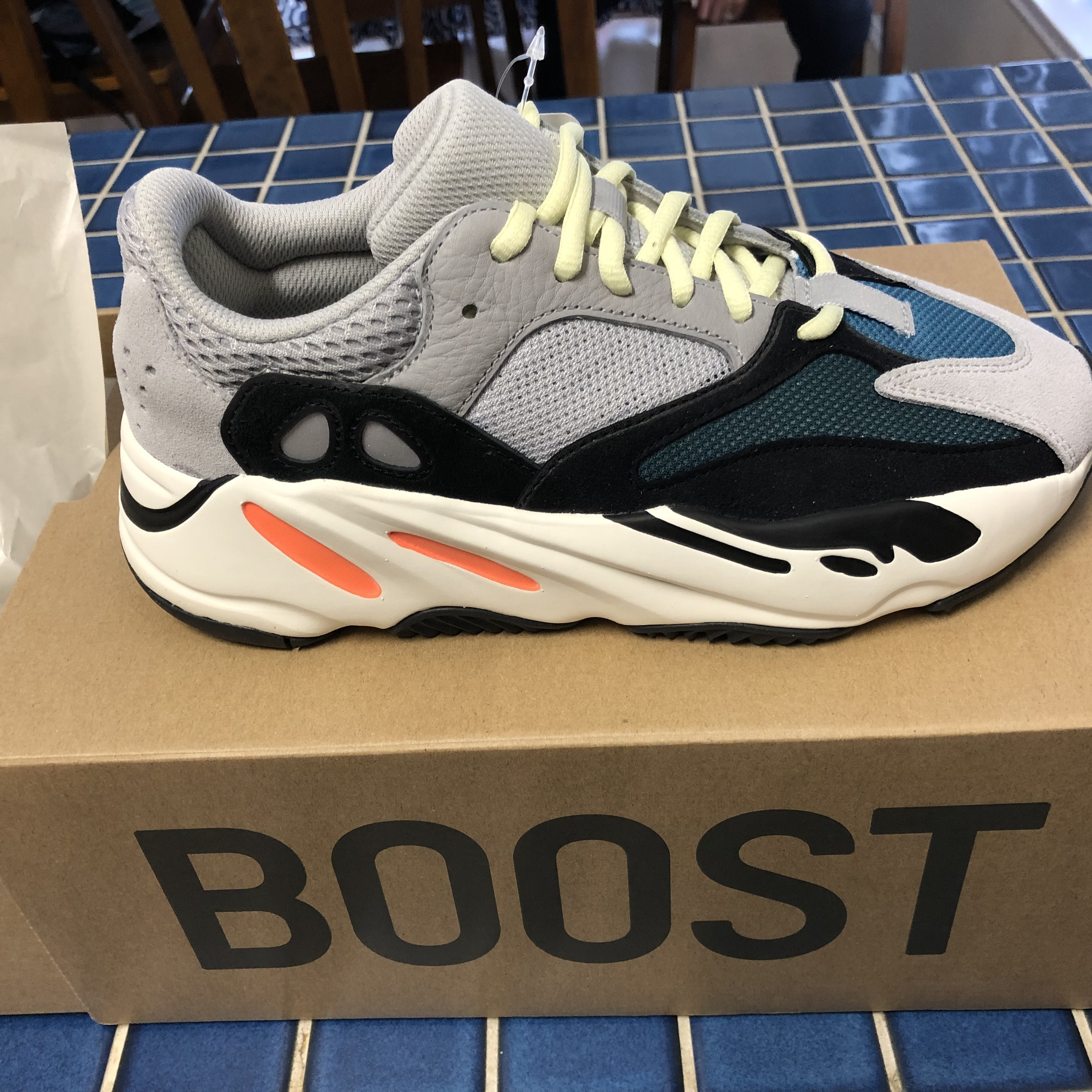 new concept 3b532 488fb 100% Authentic Yeezy Boost 700 Wave runners Size... - Depop