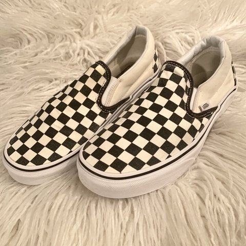18f9ab73e4 ON HOLD DO NOT BUY!!!!!Checkered vans women s size 9 are - Depop