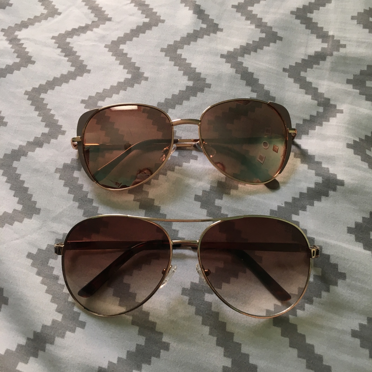45e75b1d3baa4 Rose gold glasses   guess glasses bundle - Depop