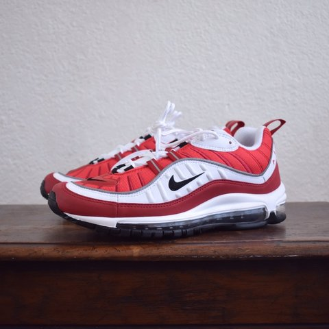 "11d1c4cc6d @ofalltime. 9 months ago. Long Beach, United States. Nike Air Max 98 Gym Red  ""Valentines Day"". Size 10 ..."