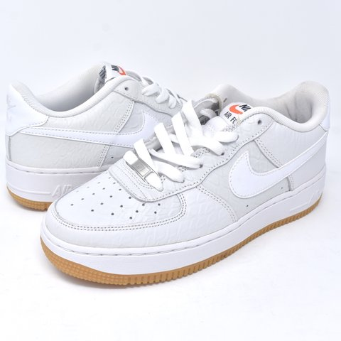 "c70b52c35274 Nike Air Force 1 low ""White Croc  Gum"". Size 6Y  ladies 7.5. - Depop"