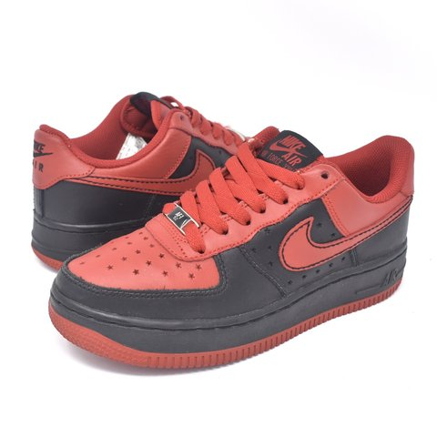"Nike Air Force 1 low ""Bred"". Size 4.5Y  ladies 6. Good db789a622"