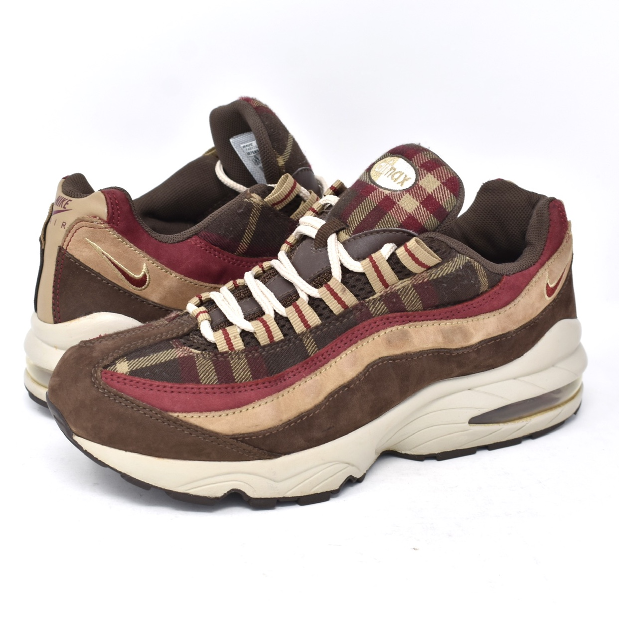"Air Max Plaid""Size Depop 95 Nike ""burgundy 2006 5 5yUs 534AjRLq"