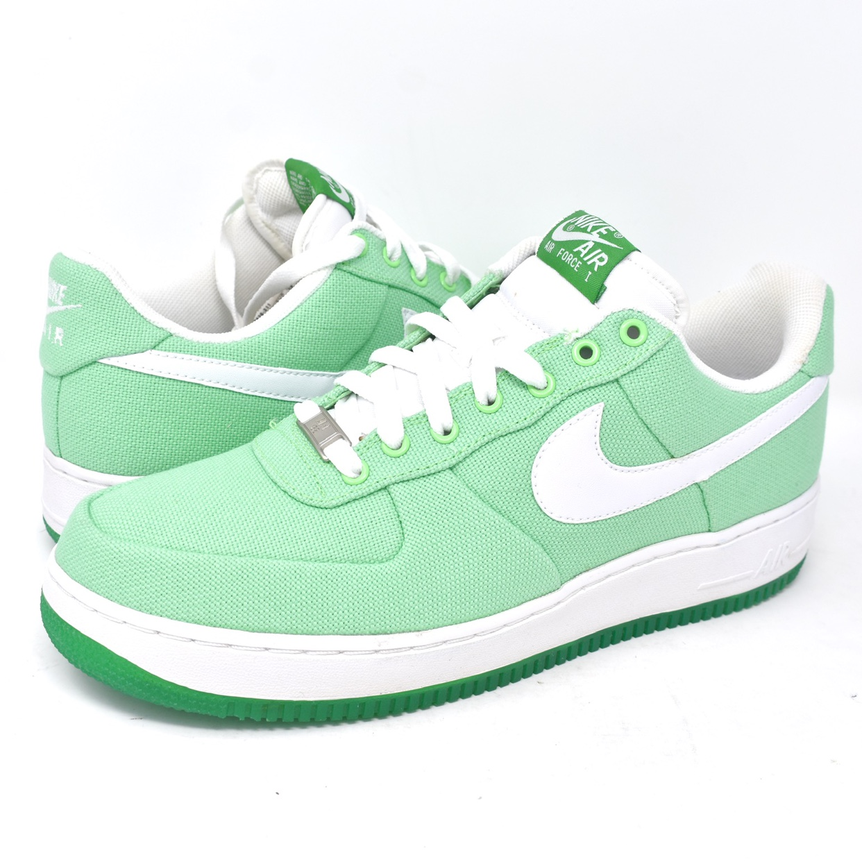 "Nike Air Force 1 Low ""Mint Green"" Canvas. Ladies 12"