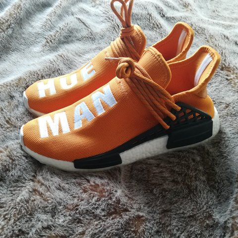 e55d856213fcf Adidas Pharrell Williams human race orange trainers - Depop