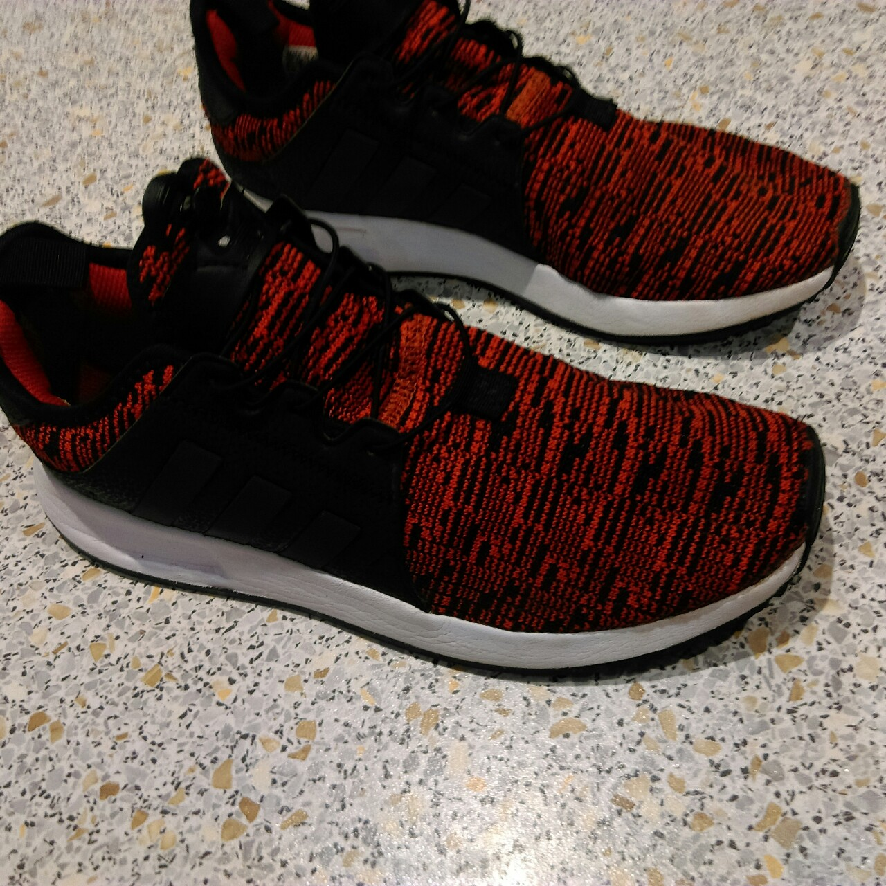 buy online 273a9 cc17d Adidas xplr red and black 25 pounds Dm for offers - Depop
