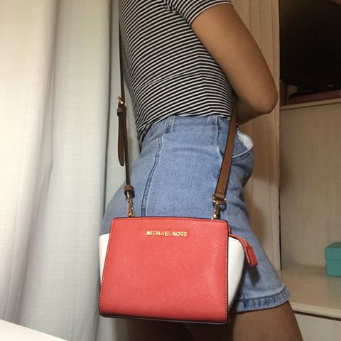 62fafd15e64d DROPPED PRICE!! Authentic Michael Kors color block (coral ✨ - Depop