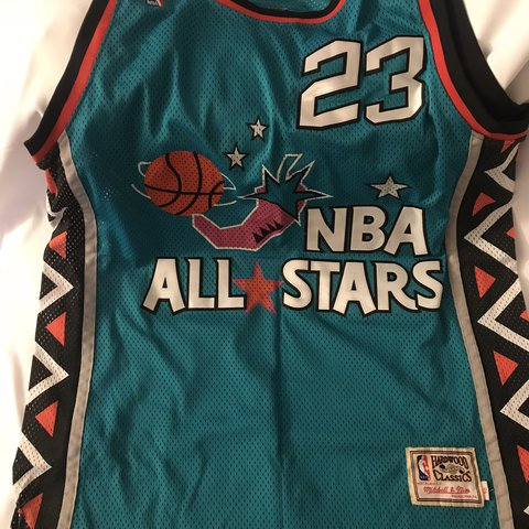 f975ad481b5 @strizzy428. 11 months ago. New York, United States. Mitchell and Ness  Michael Jordan '96 All Star Game Jersey