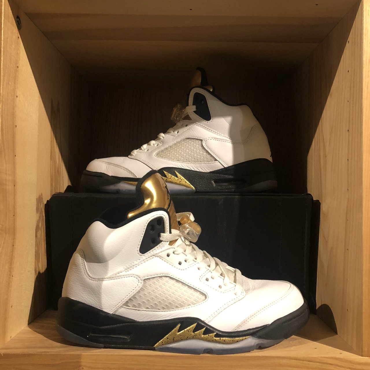 9008484e2e56f3 Jordan 5  Olympic Metallic Gold  👟Size men s uk6.5