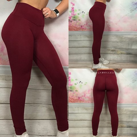 f914f5797679d Brand New* LC Labelled Comfort Gym Leggings in Red. (Model - Depop