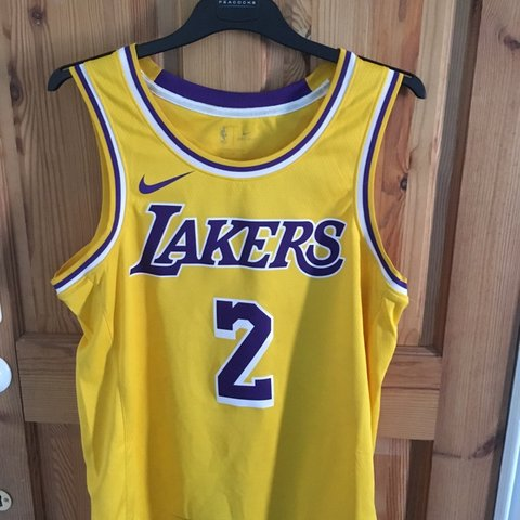 8859a7ee102 @tomcourtnadge. 2 months ago. Worthing, United Kingdom. LA Lakers Lonzo Ball  #2 8/10 Condition Jersey - Been worn ...