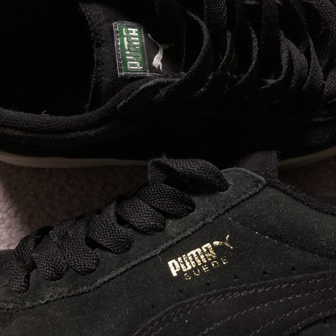 Puma suedes shoes in black Trainers Size 5.5 Have been out ( - Depop 861e2b1a8