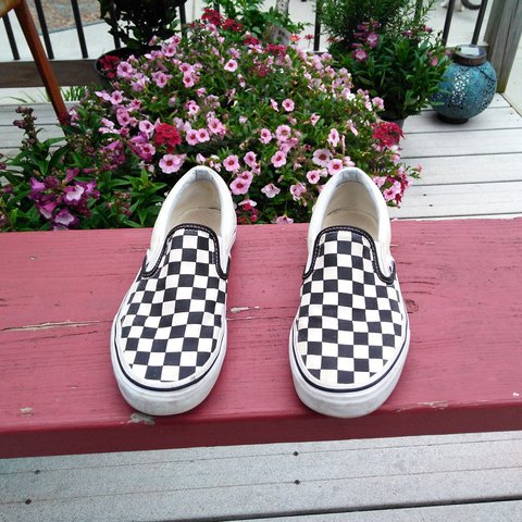 69359d06f6 Classic checkered slip on vans! Got these babies a few ago