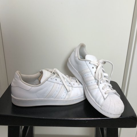 6d00206bc Adidas all white Superstars. Worn a few times