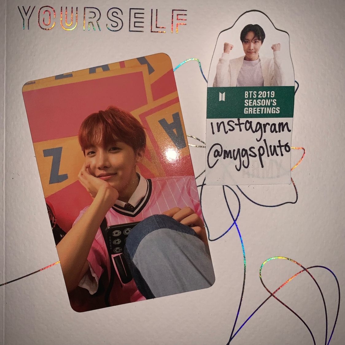 Official J Hope E Version Photocard From The Bts