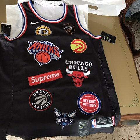 69aa6575c46 @leonardosparano. 3 months ago. Rome, Italy. WTS SUPREME X NIKE X NBA JERSEY  Size: L