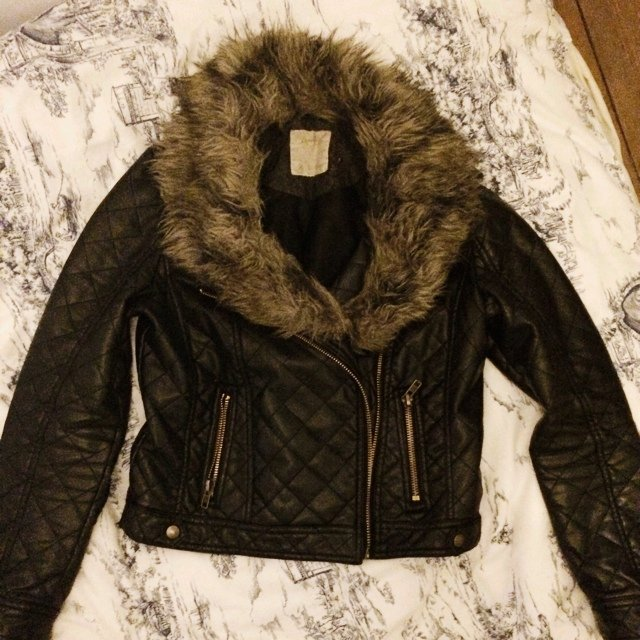 226a79cba @zarathompson. 5 years ago. Dublin, Ireland. Black quilted faux leather  jacket from Penneys (Primark). Good condition.