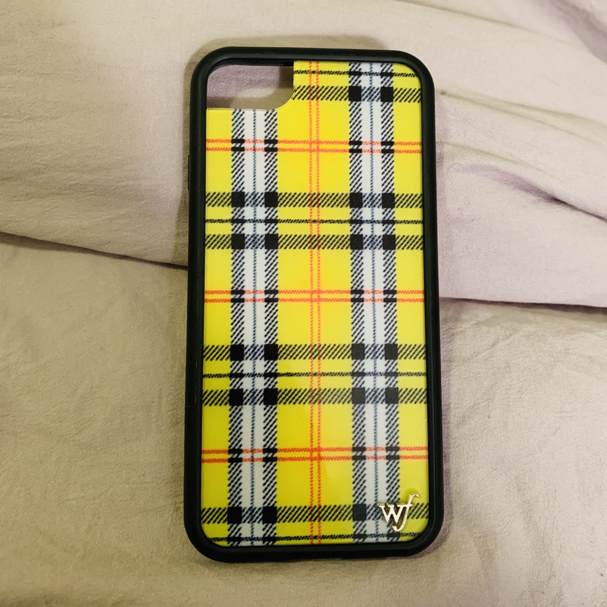 sports shoes e34fb ac353 Wildflower yellow plaid IPhone 8/7/6s phone case... - Depop