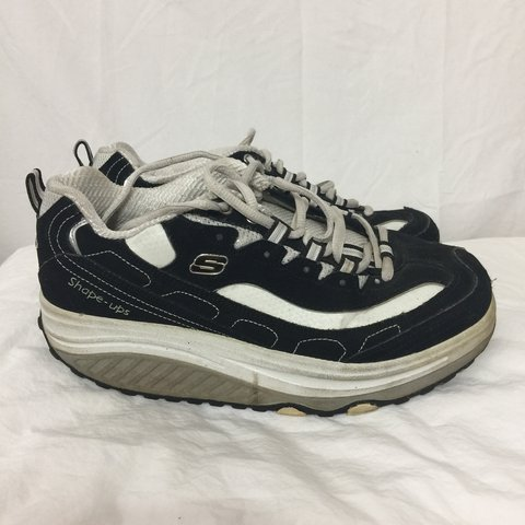 b39a5e6c @raimentb. last year. Nashua, United States. Skechers shape-ups black and  white sneakers