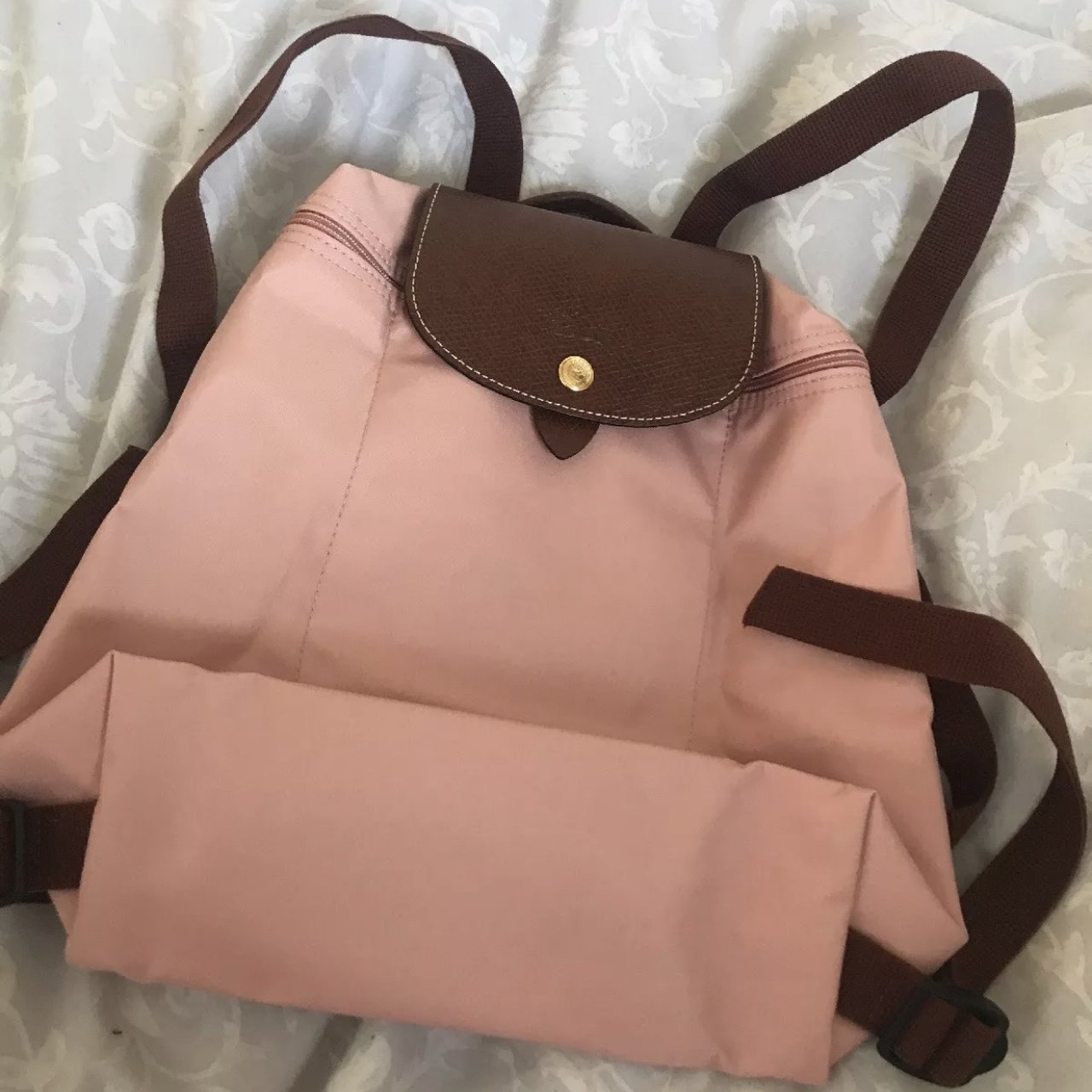 Brand new Longchamp Le Pliage backpack in shade pink. Never - Depop 619ff8c0991f4