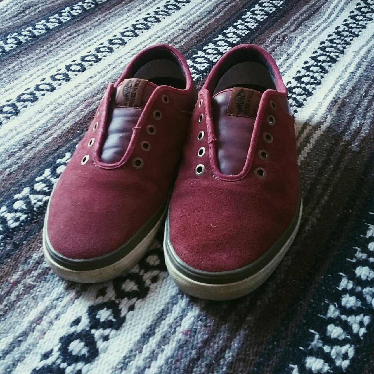 2f4256d8de8c Vans Stage 4 Low Chima Fergusons. Men s 9.5. Burgundy suede - Depop
