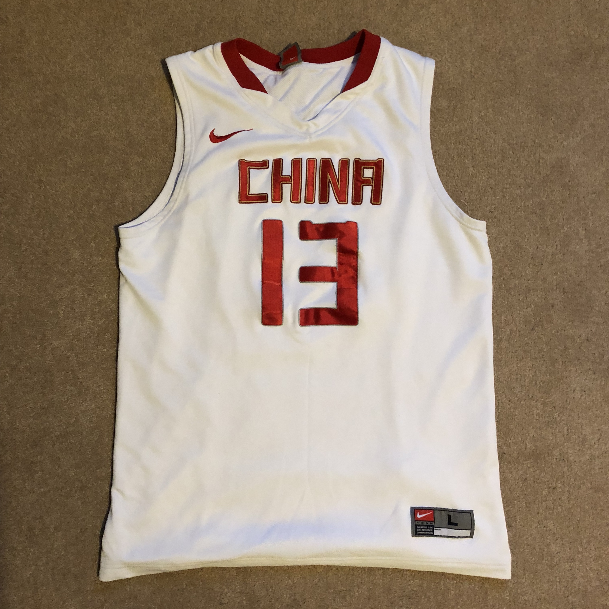 separation shoes a4dc9 7c4e1 Nike China Olympics Yao Ming Basketball Jersey, size ...