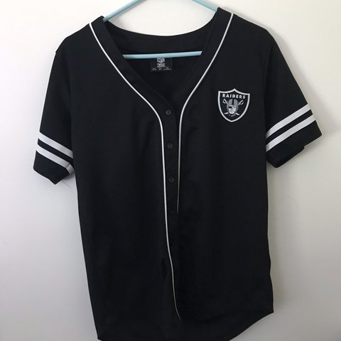 hot sales 48b37 2ed61 🐻Oakland Raiders baseball jersey 🐻barely used 🐻size ...