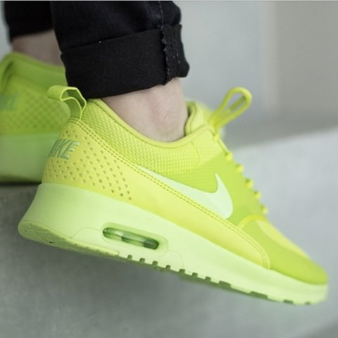 the latest 5fbc5 1164f  rimamodhwadia. last month. Leicester, United Kingdom. Nike Air Max Thea in neon  green