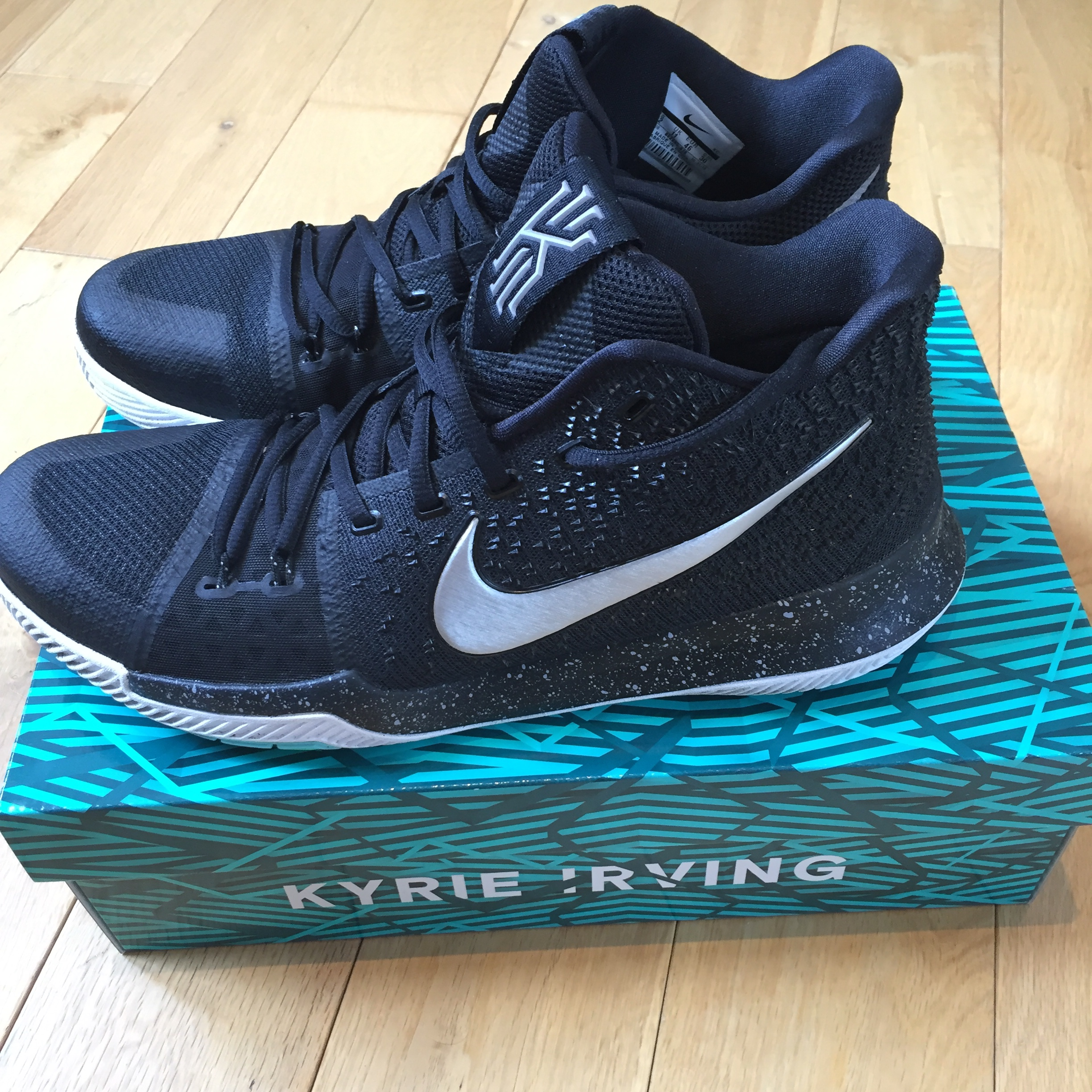 separation shoes 8d9ba 9fa6f Men's Kyrie 3 'black ice' basketball shoes... - Depop