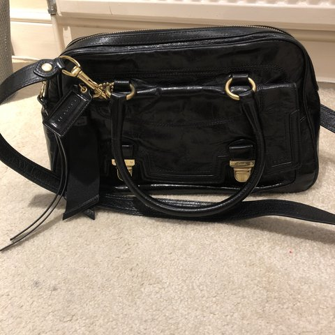 "f8572e63dfb Genuine Coach bag, with shiny leather. From their ""Poppy"" is - Depop"