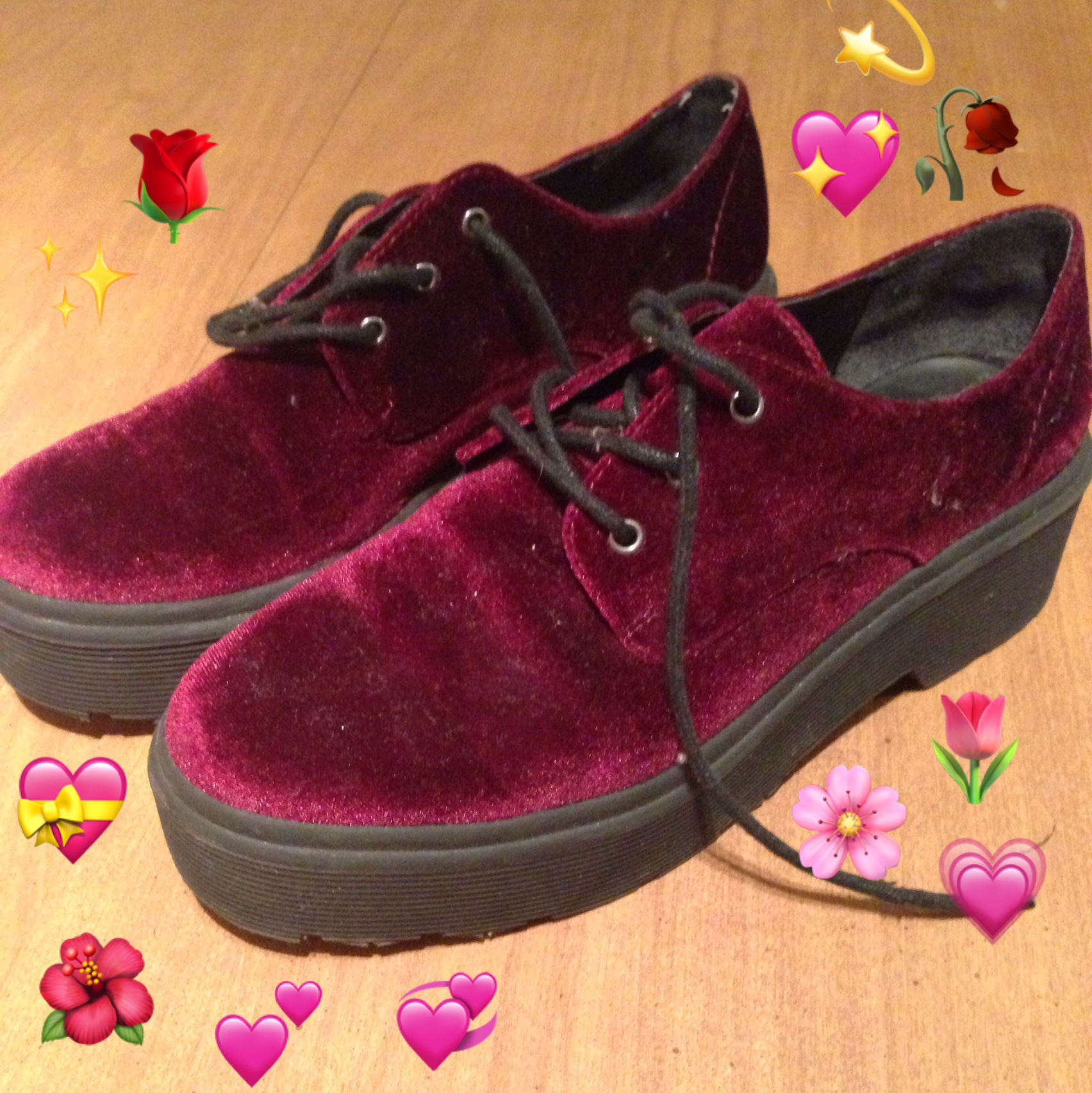 finest selection 0ad79 ca42b cute maroon velvet creepers from forever 21 i've... - Depop
