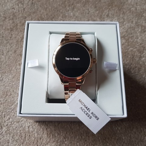 80a2dae29bdc Michael Kors Access Runway Rose Gold Smart Watch. Compatible - Depop