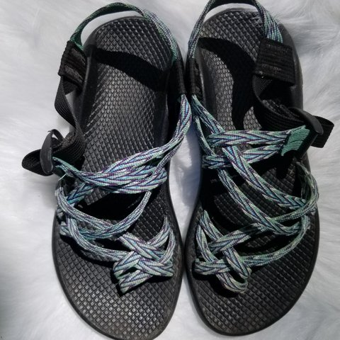 374fd7ed413b Gently used women s Chaco sandals with adjustable toe straps - Depop