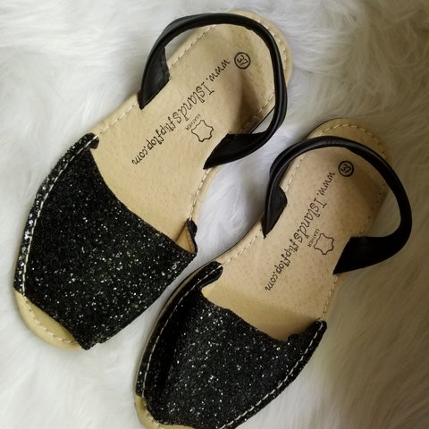 942630d5e4a2 I'm not sure if these sparkly black sandals have ever been - Depop