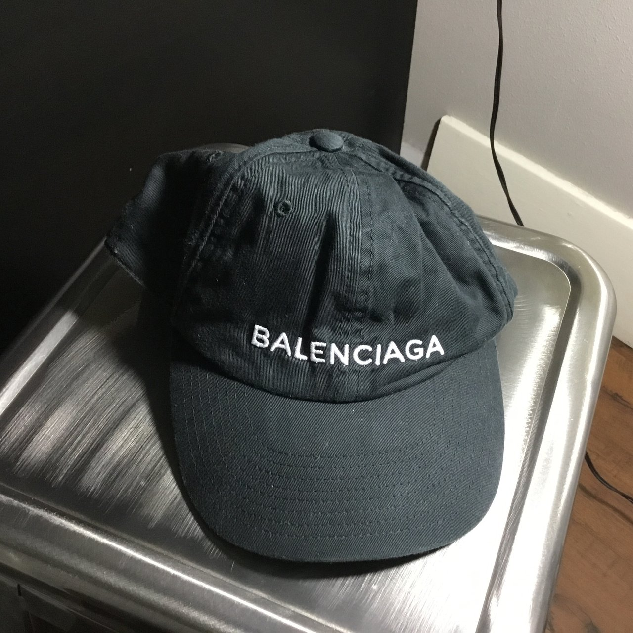 1b62179397e BALENCIAGA authentic baseball hat - Depop