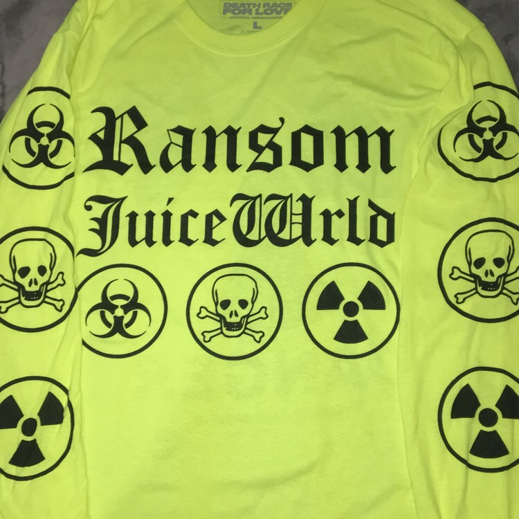 ransom x juice wrld long sleeve tee  dead stock    - Depop