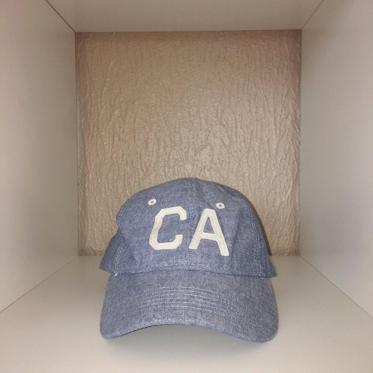 31a5895c72e 🧢 Blue gray heathered California baseball hat. Excellent - Depop