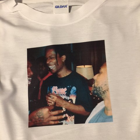 f18cd0b2 @cbarnings. in 30 minutes. England, UK. Unisex ASAP Rocky White T-Shirt • Any  Sizing Available ...