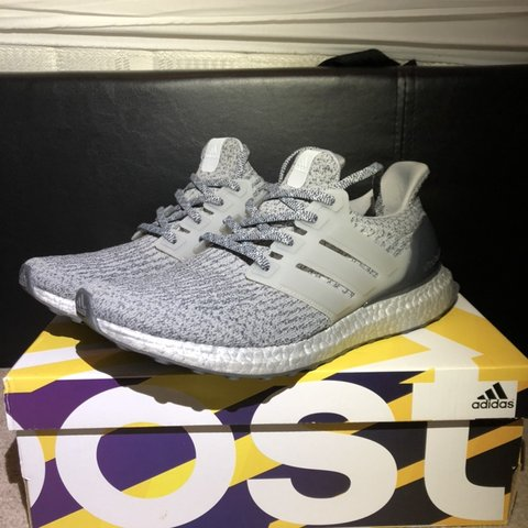 957817488 Adidas Ultra Boost 3.0 Super Bowl Silver trainers - Great   - Depop