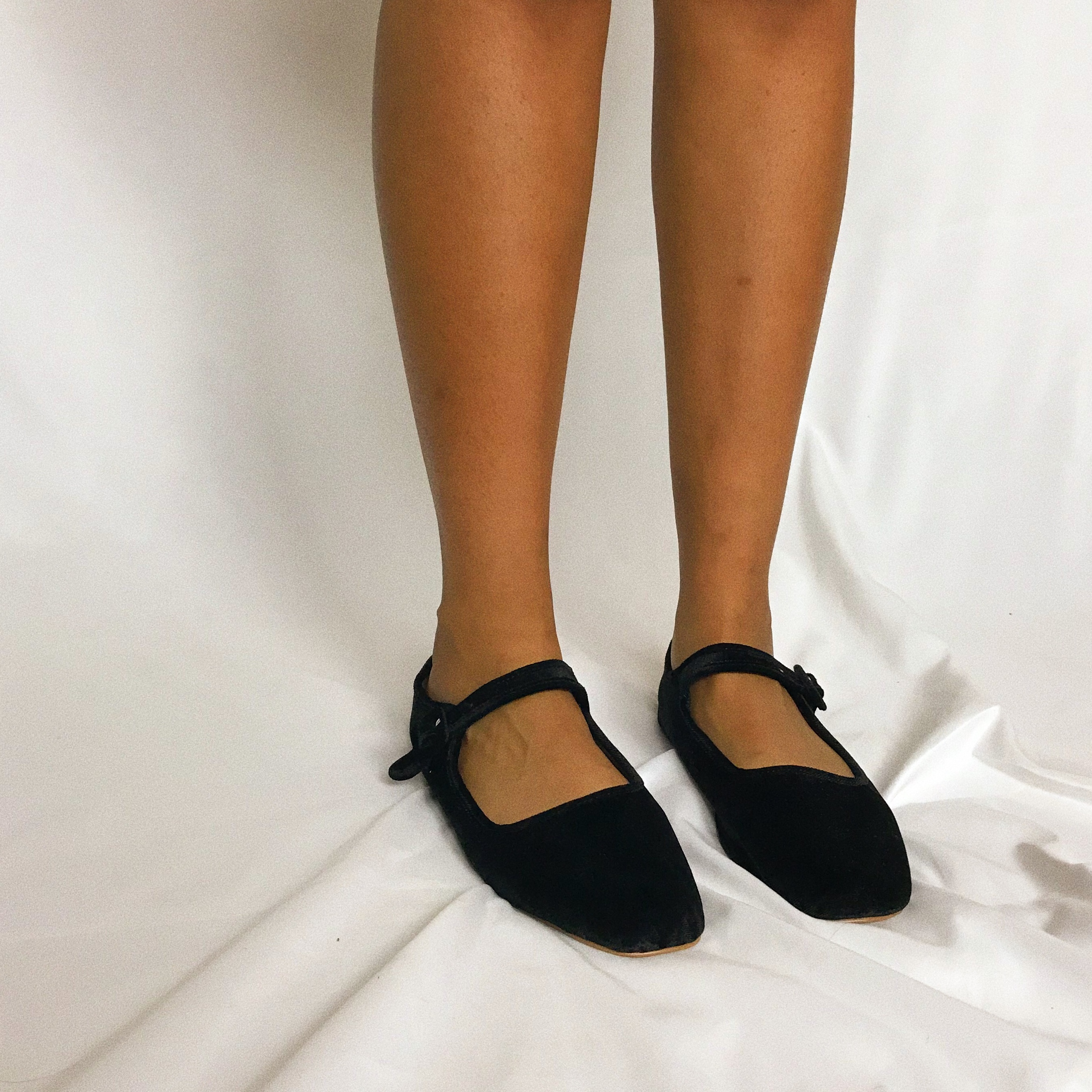 Black Velvet Mary Janes By Urban Outfitters Depop
