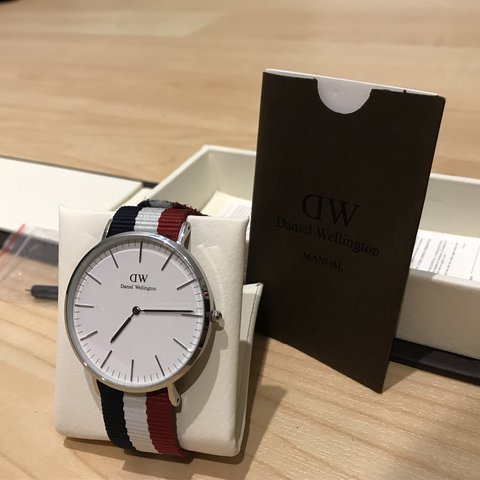 7e034db023bbb Daniel Wellington Watch Classic Cambridge Silver 40mm Only - Depop