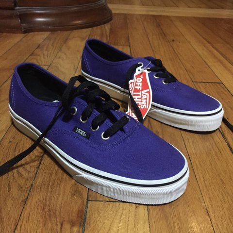 07351f64e93438 Brand new purple new era vans with the tag still much to say - Depop