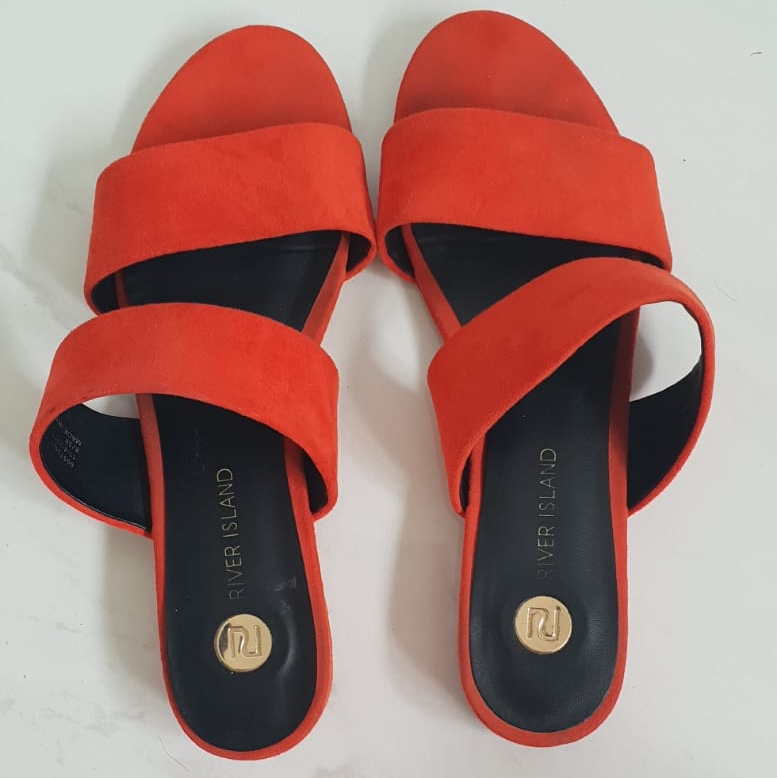 Orange shoes from river island. Size 6